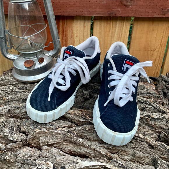 Vintage 90s Fila canvas shoes.
